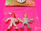 Mini Monsters of the Neighborhood ACTION FIGURE #47 - Col. Chicken Buckets & Les photo