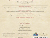 Arriaga - The Complete String Quartets - CD Digipack with 32 pages color booklet photo