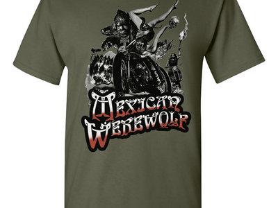 Wolves On Wheels (Green) Shirt main photo
