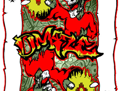 DMIZE - SIK SIDE MONSTER PLAYING CARD SHIRT - LIMITED PRINT main photo