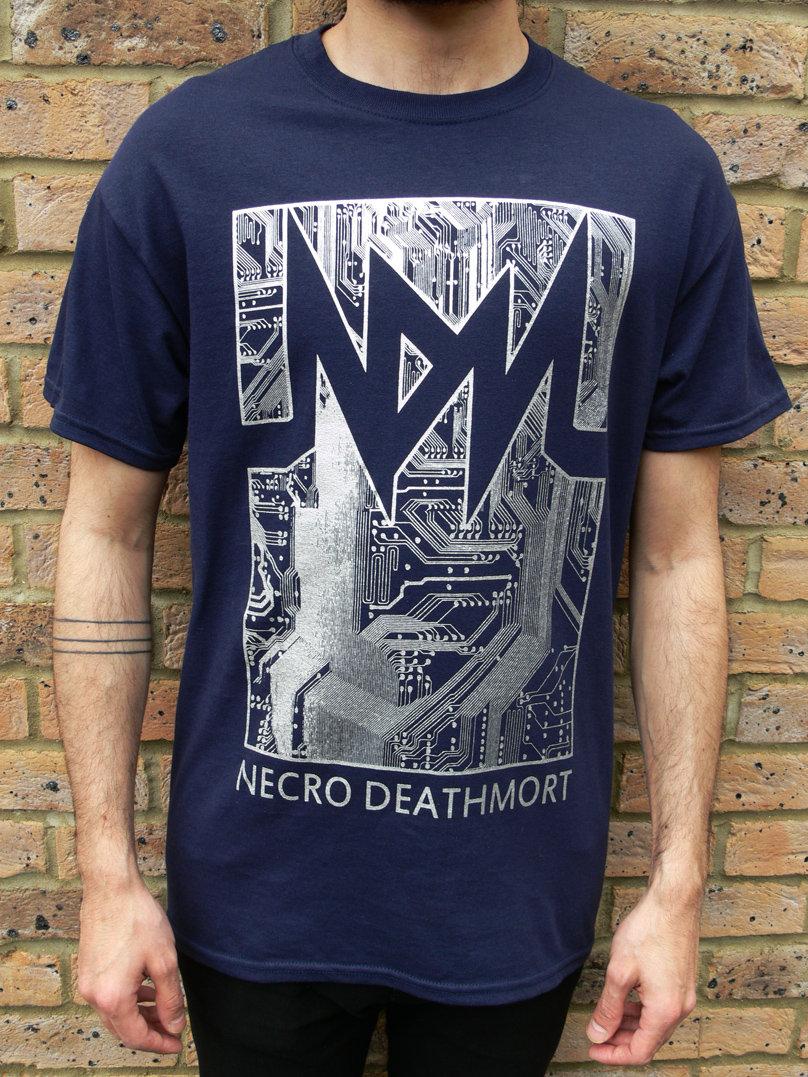 Shirt design ink - Circuit T Shirt Design Blue Silver Main Photo