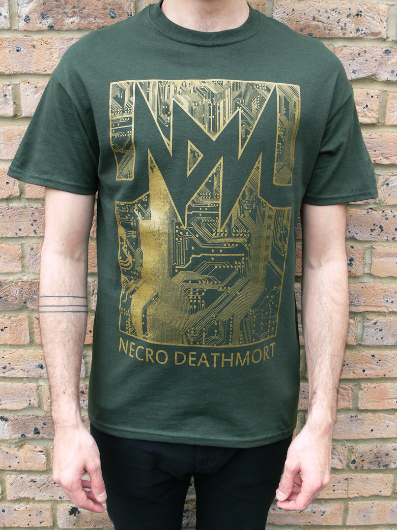 Shirt design green - Circuit T Shirt Design Green Gold Main Photo