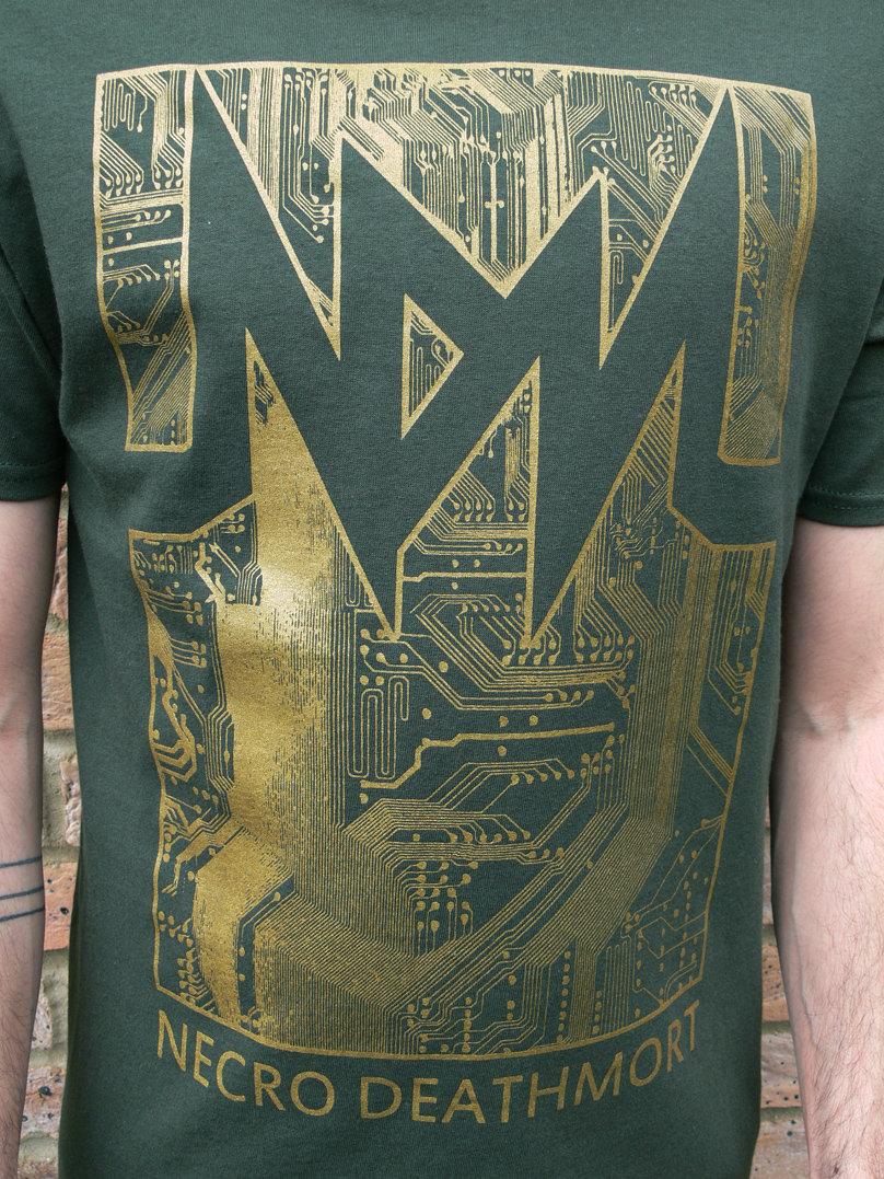 Shirt design green - Circuit T Shirt Design Green Gold Photo