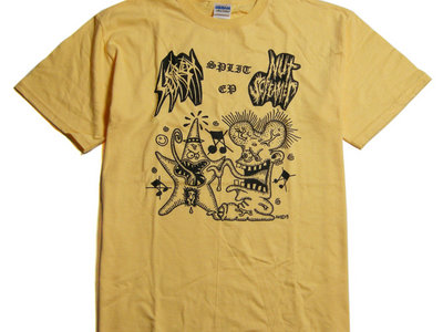 Split w/Nut Screamer split ep T-shirt (Yellow) main photo
