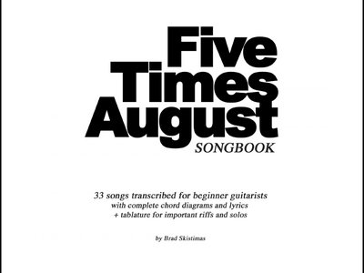 Five Times August Digital Songbook PDF main photo