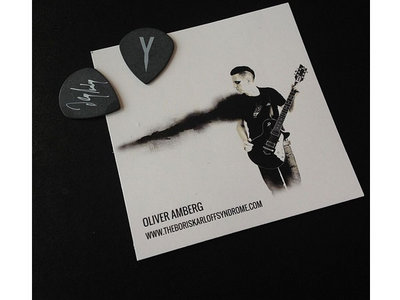 Signed THE BORIS KARLOFF SYNDROME Guitar Pic and Card main photo