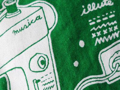 Organic Cotton Tote Bag with original ILLUTE illustration – organic & fair main photo