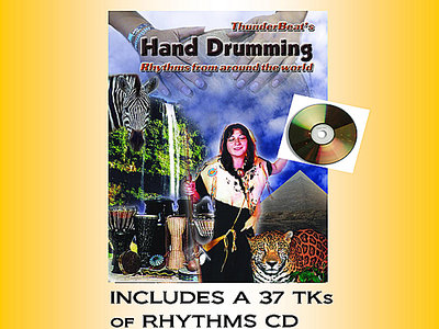 "Hand Drum Book ""Rhythms from Around the World"" Plus 37 TK CD main photo"