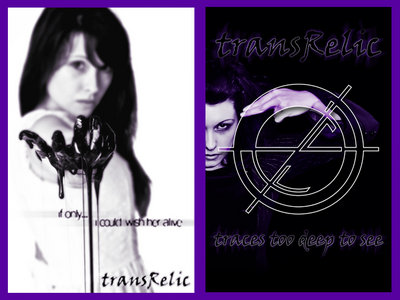 """transRelic- """"traces"""" Double sided poster main photo"""