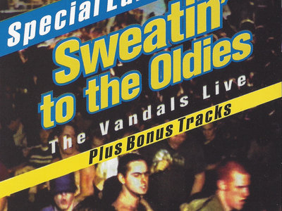 Classic V-Gun T-shirt + D.J. slip mat + Vandals' Sweatin To The Oldies 18 song download. main photo