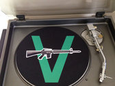 Classic V-Gun T-shirt + D.J. slip mat + Vandals' Sweatin To The Oldies 18 song download. photo
