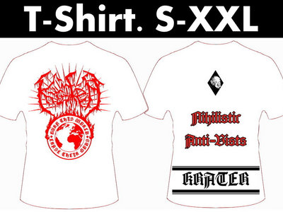 "T-Shirt White ""Burn this world"" main photo"