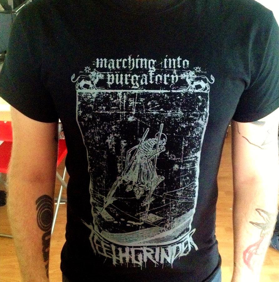 Marching Into Purgatory Design Black Gildan Shirt Only M