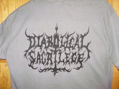 Diabolical Sacrilege Black Logo on GRAY Shirt main photo