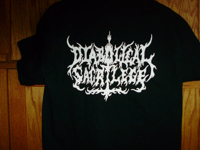 Diabolical Sacrilege White Logo on BLACK Shirt main photo