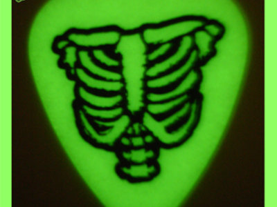 Tommy Creep's Glow-in-the-Dark Ribcage Guitar Picks! main photo