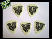 Tommy Creep's Glow-in-the-Dark Ribcage Guitar Picks! photo
