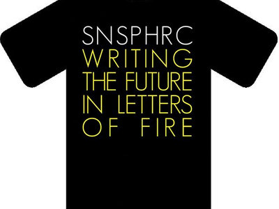 Writing the Future in Letters of Fire T-Shirt main photo