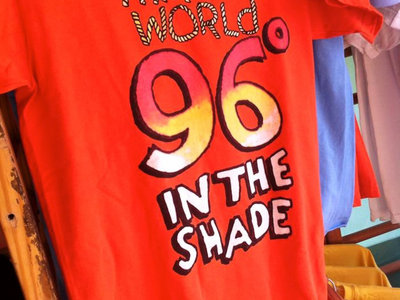 """96 Degrees in the Shade"" T-Shirt in Sunset Orange main photo"