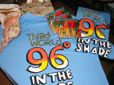 """96 Degrees In The Shade"" T-Shirt in Caribbean Blue main photo"