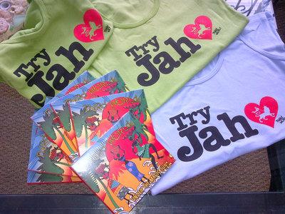 """""""Try Jah Love"""" Tank Top - Ladies in Mint Green, Seaside Blue or Black main photo"""