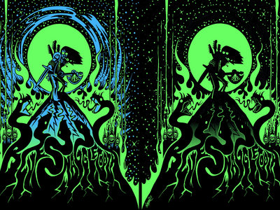 """Stoner Snakes"" Silk-screened Poster main photo"