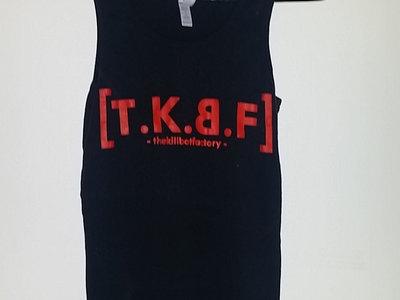 Ladies Black Singlet, Red Logo main photo