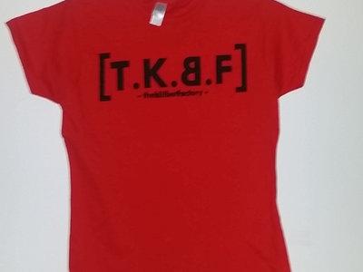 Black Logo on Red Shirt main photo