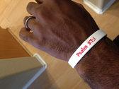 """Bring it on"" wristband (white) photo"