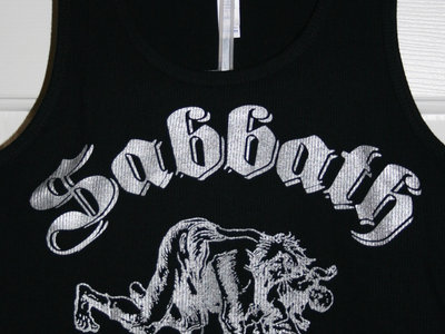 Sabbath Crow werewolf with baby in mouth ladies tees and tanks - silver ink on black main photo