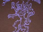 Closeout!!  Sabbath Crow celtic wolf wood-cut design ladies junior fit t-shirt photo