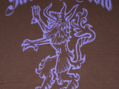 Closeout!!  Sabbath Crow celtic wolf wood-cut design t-shirt photo