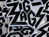 Zig Zags Embroidered Patch photo