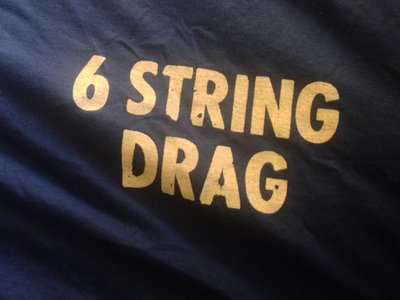 6 String Drag - Logo Tee -  Men's/Unisex - in Navy Blue and Smoke Colors main photo