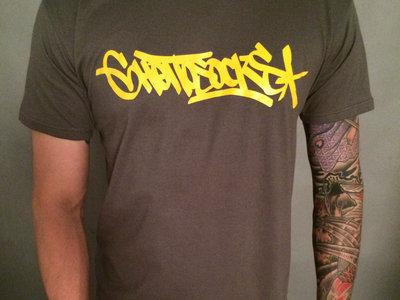 Ghettosocks Tag T-shirt (Yellow on Grey) main photo