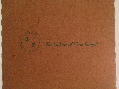 """The Making of """"Your Songs"""" DVD main photo"""