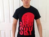 CLEARANCE: Red Sun Design - Black T-Shirt photo