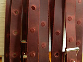HANDMADE LEATHER NIC ARMSTRONG GUITAR STRAP photo