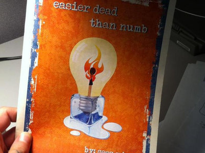 """easier dead than numb"" poetry book (autographed by Seez Mics) main photo"