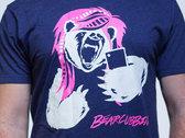Purple Selfie Bear T-Shirt photo