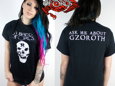 Ancestor Skull T-Shirt - Ask Me About Gzoroth back print main photo