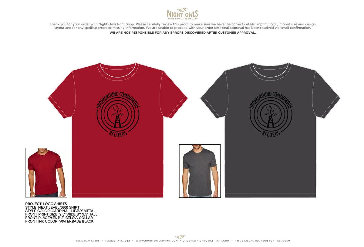 6c58ead0 Underground Communique T Shirt | Underground Communique Records