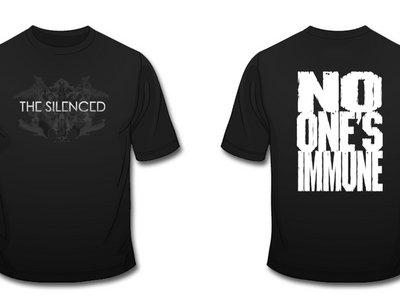 No one's immune T-shirt, black main photo