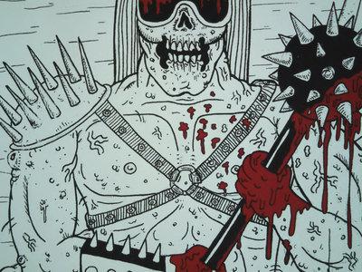 """Brainded Warrior Silk-screened Poster"" main photo"