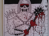 """Brainded Warrior Silk-screened Poster"" photo"