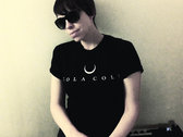 'Bull Horn Moon' Black T-Shirt photo