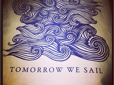Organic Cotton Tote Bag - Tomorrow We Sail // Waves main photo