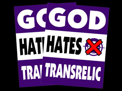 God Hates transRelic Vinyl Sticker main photo