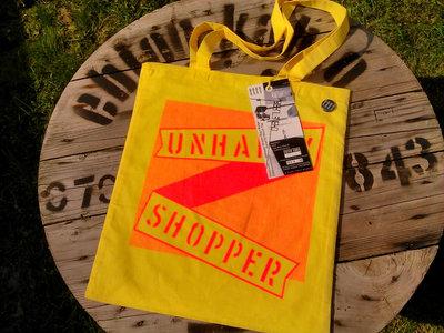'Unhappy Shopper' Bag + Tag main photo