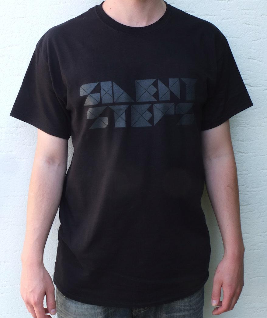 Silent Steps T-Shirt (Black w/ Dark Grey Logo)   Silent Steps